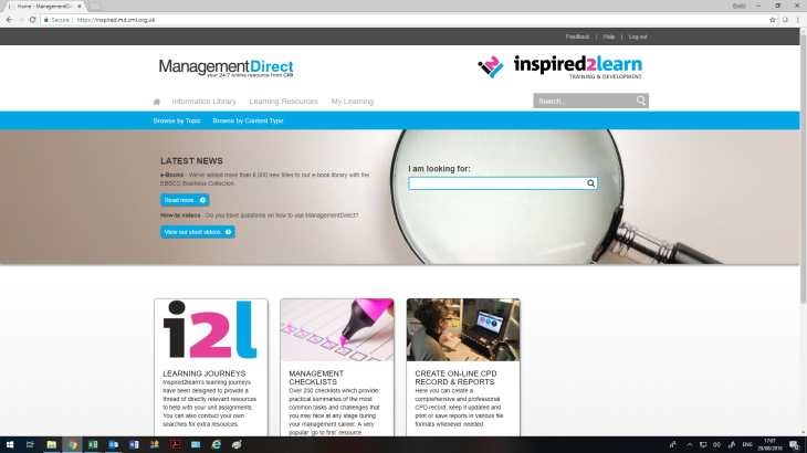 CMI Management Direct homepage